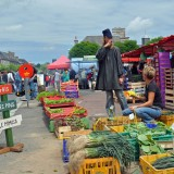 Colourful street market