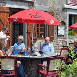 Eating alfresco at 'Chez Cedric' in Grimesnil